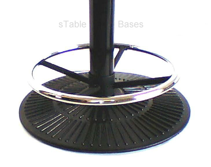 Round Radiant Bar Height table base with foot ring